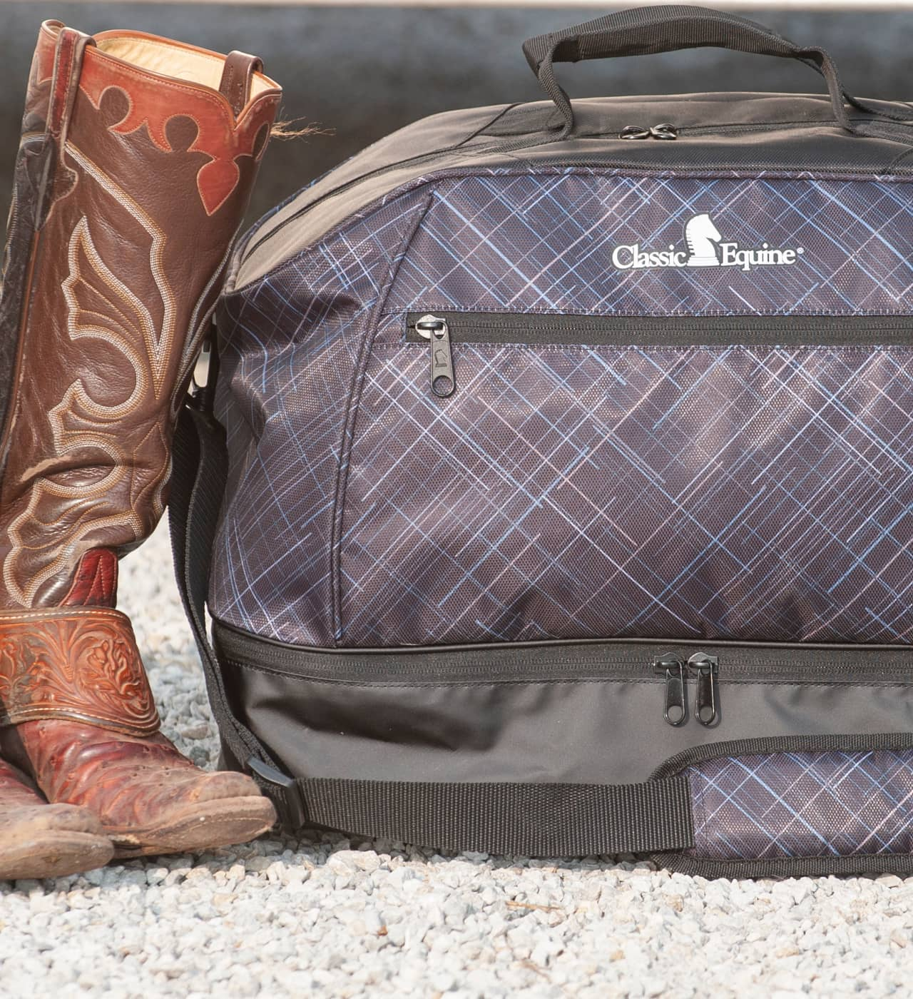 Classic Equine has a full line of travel bags for the frequent traveler