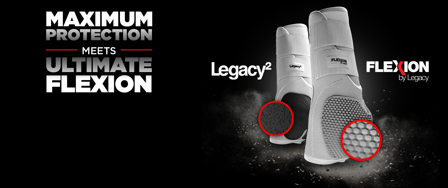The Flexion by Legacy uses Flexion technology to provide maximum protection and support to horses legs