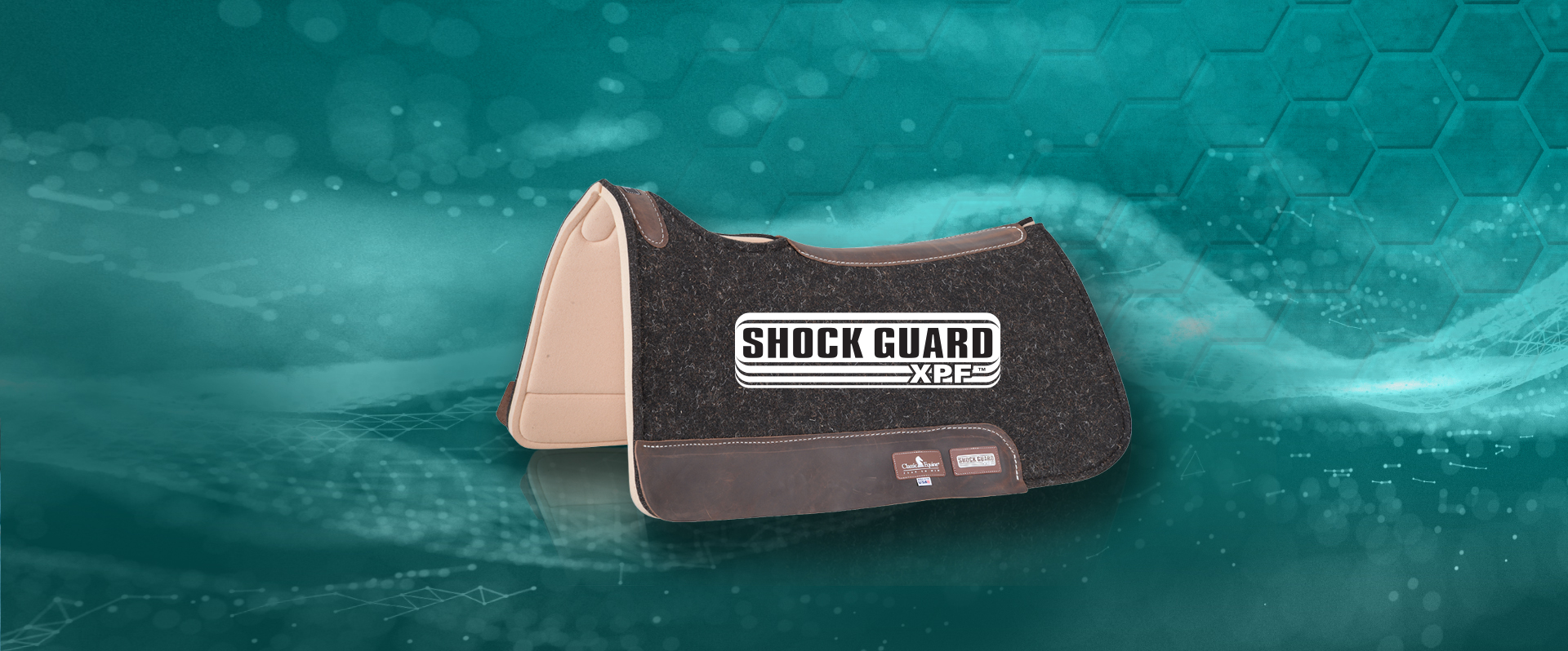 The Shock Guard provides great impact protection for horses backs using XPF breathable technology