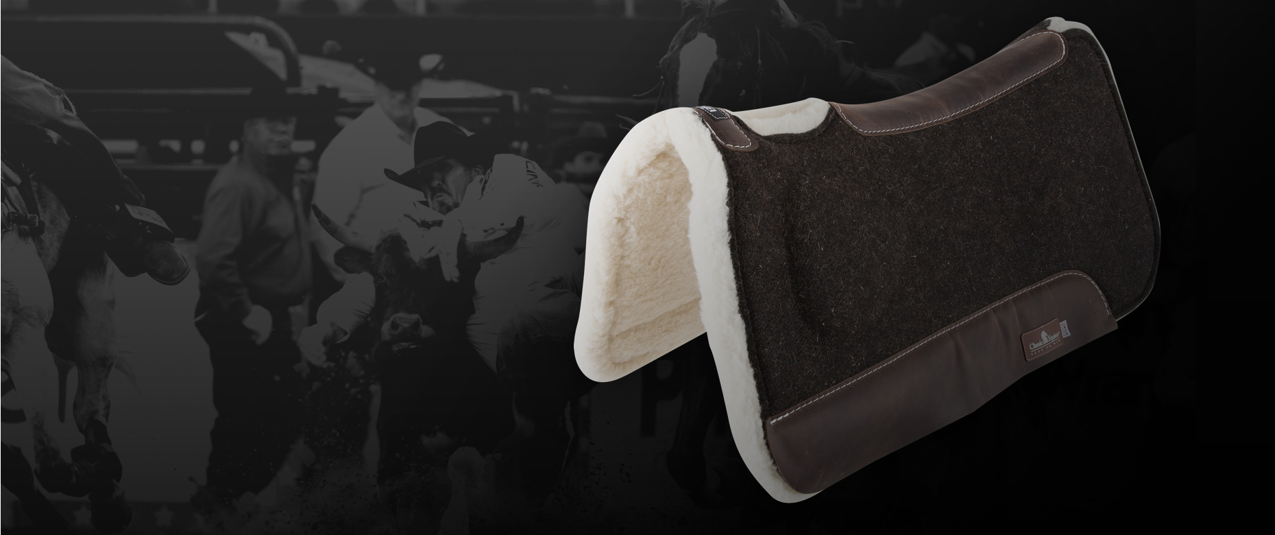 The Biofit pad levels the saddle and provides support with a strategic build up